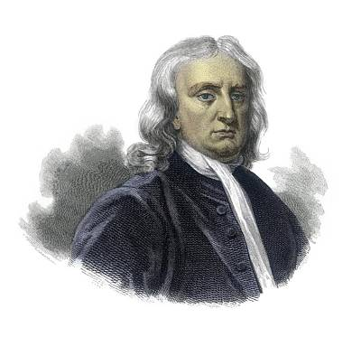 Isaac Newton Art Print by Detlev Van Ravenswaay