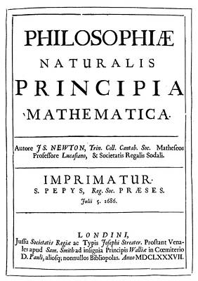 Newton Painting - Isaac Newton Title-page by Granger