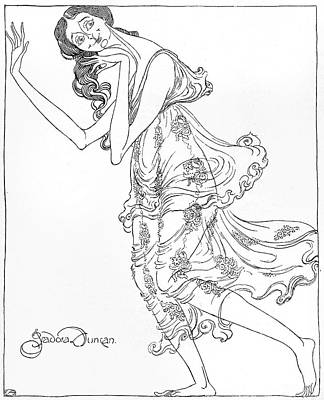 Isadora Duncan Drawing - Isadora Duncan   American Dancer by Mary Evans Picture Library