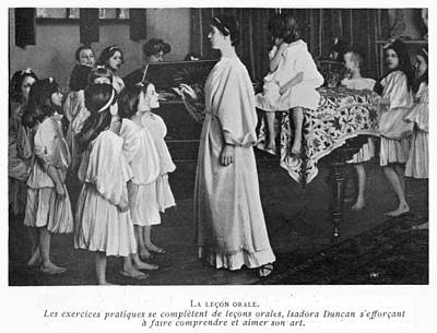 Isadora Duncan Photograph - Isadora Duncan At Her School At by Mary Evans Picture Library