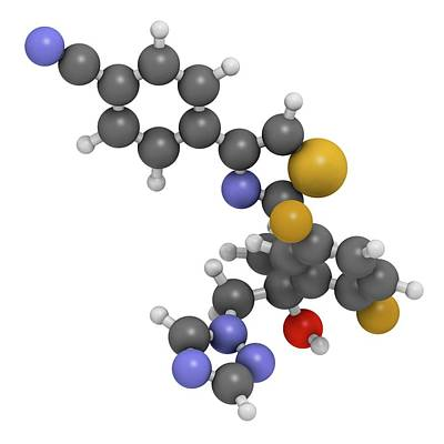 Isavuconazole Triazole Antifungal Drug Art Print