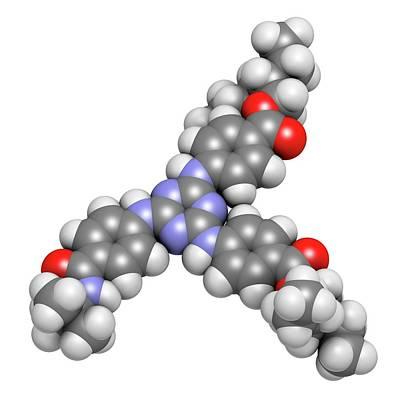 Ultraviolet Photograph - Iscotrizinol Sunscreen Molecule by Molekuul