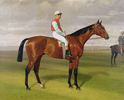 Horse Racing Painting - Isinglass Winner Of The 1893 Derby by Emil Adam