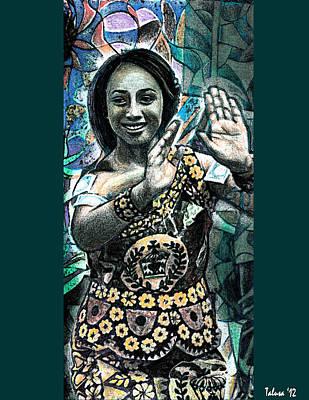 Tongan Digital Art - Island Dancer by Teleita Alusa