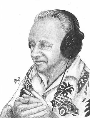 Drawing - Island Dj by Lew Davis