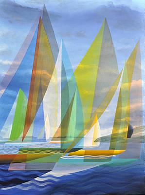 Painting - Island Sailing by Douglas Pike
