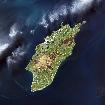 True Color Photograph - Isle Of Man, Satellite Image by Science Photo Library