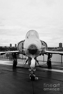 Israel Aircraft Industries Kfir On Disply On The Flight Deck At The Intrepid Sea Air Space Museum  Art Print