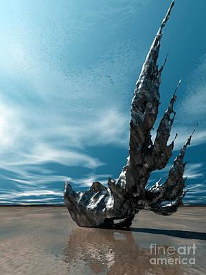 Digital Art - It Fell To Earth by Sandra Bauser Digital Art
