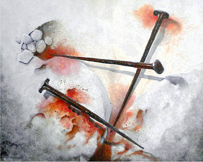 Crucifixtion Painting - It Is Done by William Walts