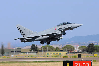 Photograph - Italian Air Force F-2000a Typhoon by Riccardo Niccoli