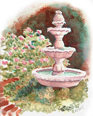 Painting - Italian Fountain by Audrey Peaty