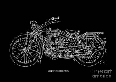 Indian Drawing - Iver Johnson 1915 by Pablo Franchi