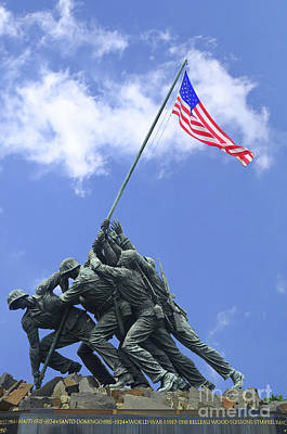 Photograph - Iwo Jima Memorial # 2 by Allen Beatty