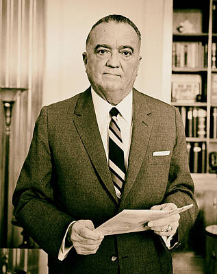 J Edgar Hoover - Director Of The Fbi 1961  Art Print by Mountain Dreams