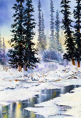 Jack Creek The Wrangells Art Print
