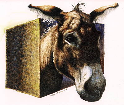 Jackass Painting - Jack In The Box by Karen Wheeler