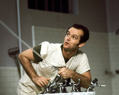 Cuckoo Photograph - Jack Nicholson In One Flew Over The Cuckoo's Nest  by Silver Screen