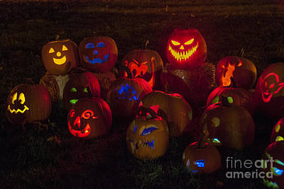 Photograph - Jack O Lanterns by Juli Scalzi