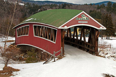 Photograph - Jackson Cross Country Skiing Bridge by Paul Mangold