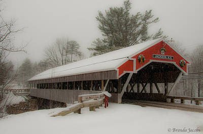 Jackson Nh Covered Bridge Art Print
