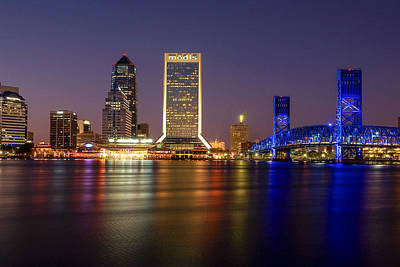 Jacksonville Skyline Print by Chris Moore