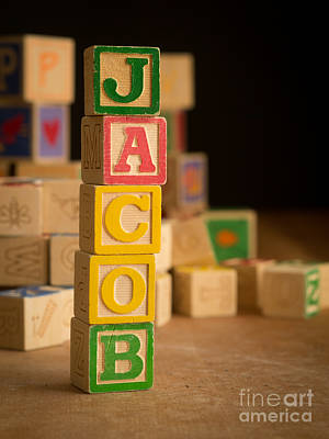 Photograph - Jacob - Alphabet Blocks by Edward Fielding