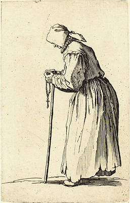 Jacques Callot French, 1592 - 1635, Beggar Woman With Rosary Art Print by Quint Lox