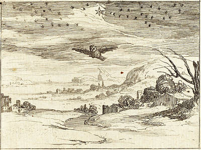 Dawn Drawing - Jacques Callot French, 1592 - 1635, Dawn by Quint Lox