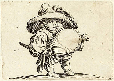Jacques Callot French, 1592 - 1635, Man With Big Belly Art Print by Quint Lox