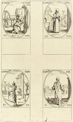 St. Jude Drawing - Jacques Callot French, 1592 - 1635 by Quint Lox