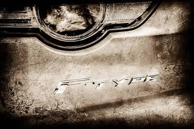 Jaguar F-type Photograph - Jaguar F-type Taillight Emblem -0149c by Jill Reger