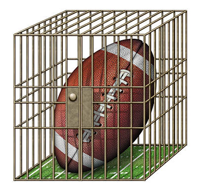 Digital Art - Jailed Football by James Larkin
