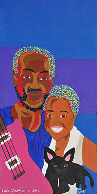 Art Print featuring the painting James And Monique by Erika Chamberlin