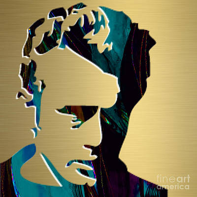 Pop Mixed Media - James Dean Gold Series by Marvin Blaine