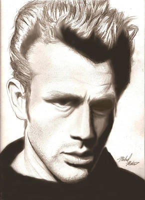 Drawing - James Dean by Michael Mestas