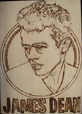 Pyrography Pyrography - James Dean by Sean Connolly