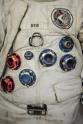 Photograph - James Irwin Space Suit by Bradley Clay