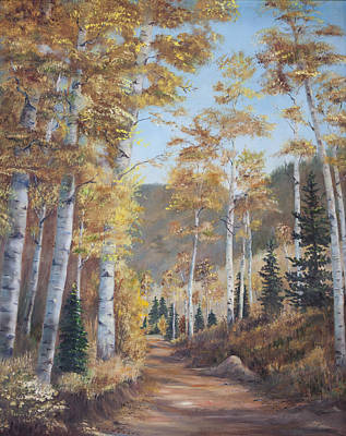 Painting - Cathedral Of The Aspens by Frances Lewis