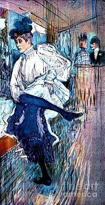Cardboard Painting - Jane Avril Dancing by Pg Reproductions