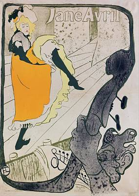 Kansas Oil Painting - Jane Avril by Toulouse-Lautrec