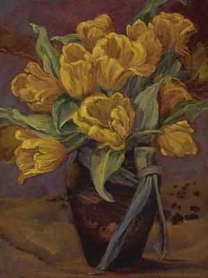 Yellow Tulips- And Buffalo Dreams Art Print by Jane Thorpe