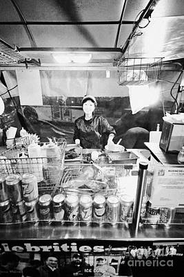Hotdog Stands Photograph - japadog fast food hot dog stand stall on granville street Vancouver BC Canada by Joe Fox