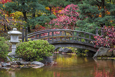 Tranquil Photograph - Japanese Bridge by Sebastian Musial