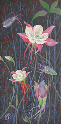 Japanese Flowers Art Print by Marina Gnetetsky