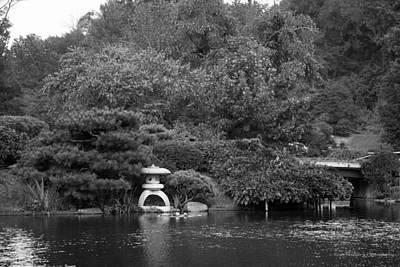 Black White Photograph - Japanese Garden by Ross Henton