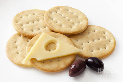 Jarlsberg Cheese And Crackers Art Print by Colin and Linda McKie