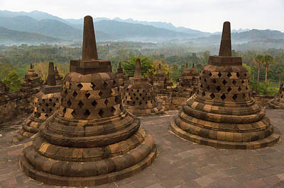Buddhism Photograph - Java, Indonesia Sunrise by Charles O. Cecil
