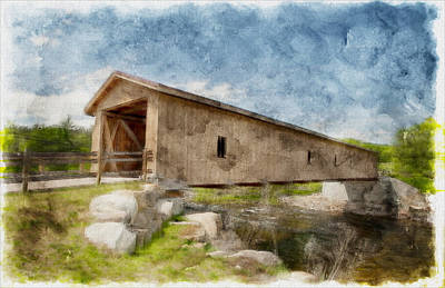 Jay Covered Bridge Art Print