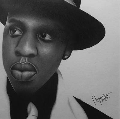 Jay Z Drawing - Jay Z Portrait  Shawn Carter by Andres Carbo